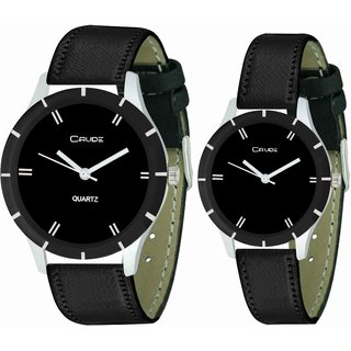 Crude beautiful Couple Analog Watch-rg630 with Synthetic Leather Strap.