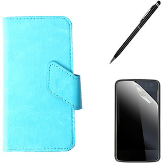 Callmate Sticker Flip Case For Samsung Rex 80 S5222R+ Screen  Guard + Stylus Pen
