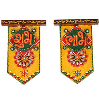 Rajasthani Kundan Wooden Crafted Unique Shubh Labh Cute Door Hangings