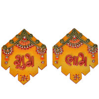 Jaipuri Kundan Handmade Unique Elegant Design Shubh Labh Door Hanging