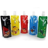 2pcs Angry Bird Water Bottle, Sipper 480 Ml Reuseable,Travel Portable