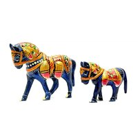 Jaipur Raga Beautiful Handmade And Fine Meenakari Combo Horse