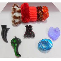 Value Good's Hair Claw Clips And Hair Scrunchies Combo ( Assorted 10 Piece Set )