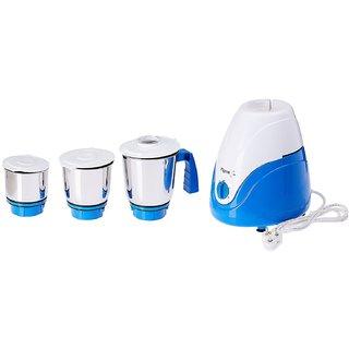 Pigeon Amaze 550-Watt Mixer Grinder with 3 Jars (White/Black)