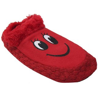 Tahiro Red Socks Bootie For Girls - Pack Of 1