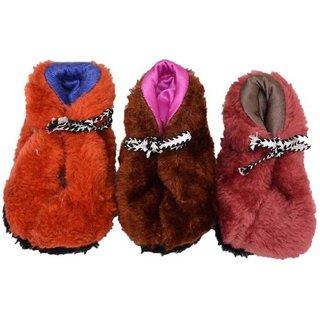 Tahiro Multicolour Socks Bootie For Girls - Pack Of 3