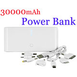 30000mAh USB Power Bank External Battery Charger for i Phone/iPad/Mobile