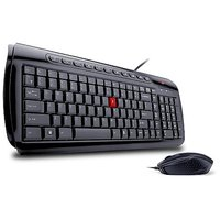 IBall Shiny PS2 Keyboard And USB Mouse Set Multimedia Deskset (Black)