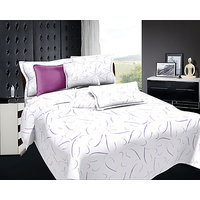 Zigma Collections Radisson 100% Cotton King Size Bedsheet - 5089992