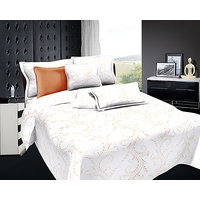 Zigma Collections Radisson 100% Cotton King Size Bedsheet