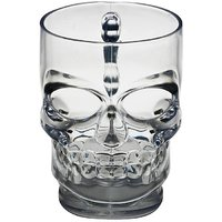 Think Funky Skull Shaped Beer Glass