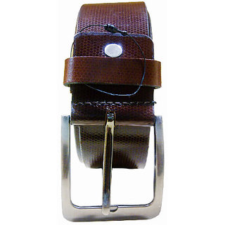 Brown Leather Belt For Men's For Casual And Formal- H7B1