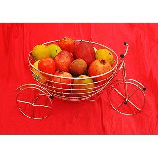 Fruit Vegetable Designer Heavy Stainless Steel Holder Rack Basket - Round