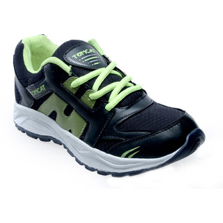 Tomcat Mens Green And Navy Lace-up Running Shoes