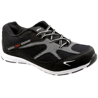 Tomcat Mens Black White Lace-up Running Shoes