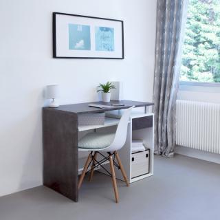 Avril desk - dcor white and concrete