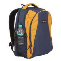 "College / School Bag - Backpack - Blue & Yellow Color Bags - 18"" - By Bags R Us"