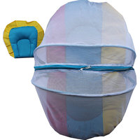Baby Bed Tent With Mosquito Net And Pillow - Base Pink