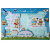 Little Hub Born Baby Gift Set - Light Green