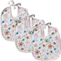 Baby Bib With Waterproof Laminated Back Pack Of 3 Pices