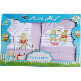 Little Hub Born Baby Gift Set - Light Purple