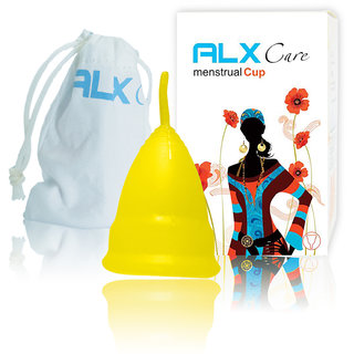 ALX Care Reusable Hygienic Menstrual Cup Size S Yellow