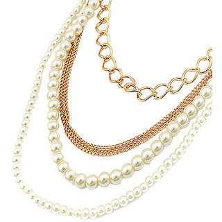 Young & Forever Stylish & Elegant Pearl Multilayer Designer Necklace For Women B