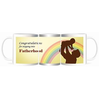Refeel Gifts Congratulations For Stepping Into Fatherhood Mugs