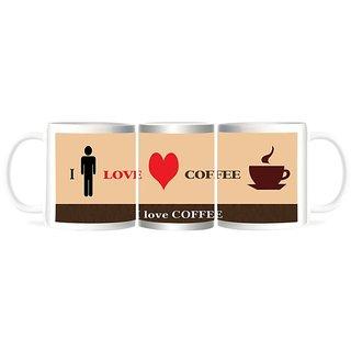 Refeel Gifts I Love Coffee Mugs