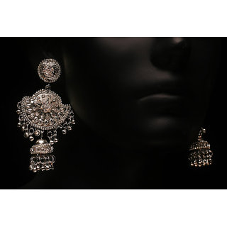 Antique Silver Plated Fashion Zumki Earring (AJER-SJ-111)