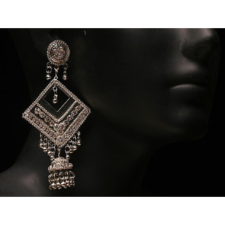 Antique Silver Plated Fashion Zumki Earring (AJER-SJ-147)