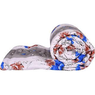 Just Linen 180 TC 100% Cotton Poplin Floral Design Multicolor Single Size AC Comforter