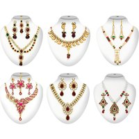 6 Designer Necklace Sets Combos By The Pari(Combp 3)