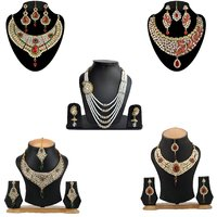 Combo Of 5 Designer Ethnic Necklace Sets(Combo 4)