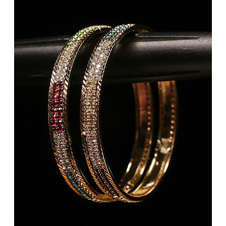 Maya Multicolored Diamond Bangles (AJBG-SJ-1527(2.8))