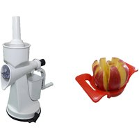 Hand Operated Juicer With Vaccum Base And Apple Cutter Combo