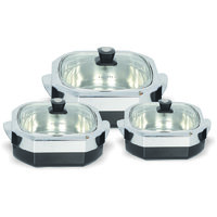 Jaypee High Quality Stainless Steel First Glass Set Of 3 Pcs