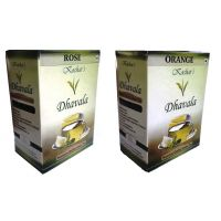 Green Tea 200 Gms Combo (Green Tea W/Rose And Green Tea W/Orange )