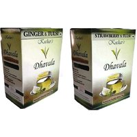 Green Tea 200 Gms Combo (Green Tea W/Ginger & Tulsi And Strawberry & Tulsi )