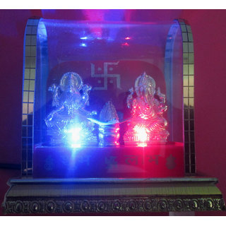 Golden Look Lakshmi Ganesha With Lighting