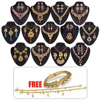 Utsav-1-Gram-Gold-Plated-13-Jewellery Set