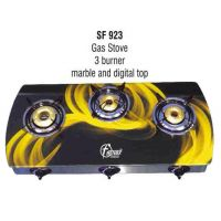 Branded 3 Burner Glass Top Designer Gas Stove
