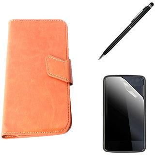 Callmate Sticker Flip Case For LG Optimus L3 II E425 + Screen Guard + Stylus Pen