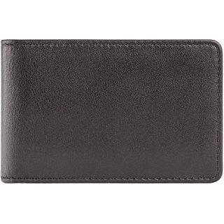 Visconti Bond Q Bi-Fold Black & Green Genuine Leather Mens Wallet With RFID