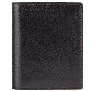 Visconti James Bi-Fold Black & Green Genuine Leather Mens Wallet With RFID