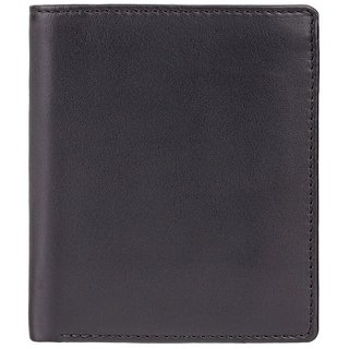 Visconti Dr.No Bi-Fold Black & Green Genuine Leather Mens Wallet With RFID