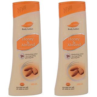 La Valley Body Lotion Honey Almond 500ml Pack Of 2