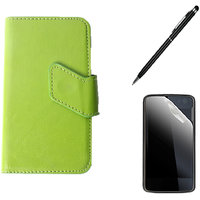 Callmate Sticker Flip Case For LG Optimus L3 Dual E405+Screen Guard+Stylus Pen