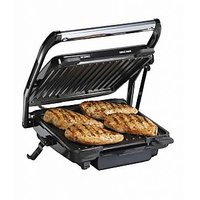 Hamilton Beach Updated Indoor Grill And Panini Press 25451 With 2 Skewer - 5139056
