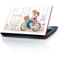 Boy And Girl On Bicycle 15.6 Inches Laptop Skin By Shopkeeda